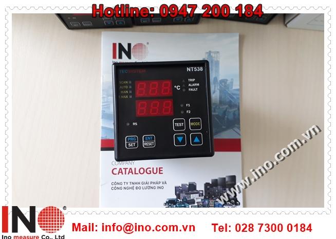 Giới thiệu điều khiển nhiệt độ 8 ngõ vào của hãng Tecsystem có mã NT538
